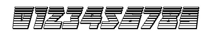 Halfshell Hero Chrome Italic Font OTHER CHARS