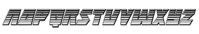 Halfshell Hero Chrome Italic Font UPPERCASE