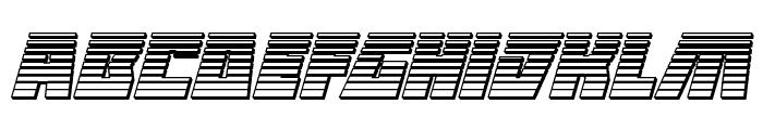 Halfshell Hero Chrome Italic Font LOWERCASE