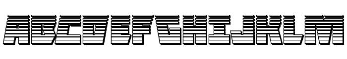 Halfshell Hero Chrome Regular Font UPPERCASE