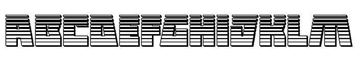 Halfshell Hero Chrome Regular Font LOWERCASE