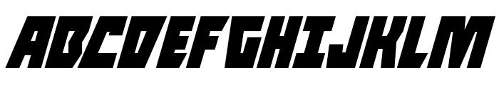 Halfshell Hero Condensed Italic Font UPPERCASE