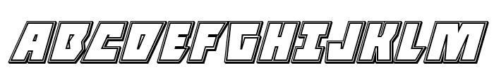 Halfshell Hero Engraved Italic Font UPPERCASE