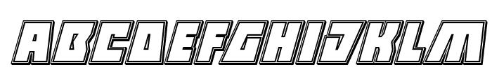 Halfshell Hero Engraved Italic Font LOWERCASE