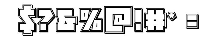 Halfshell Hero Engraved Regular Font OTHER CHARS