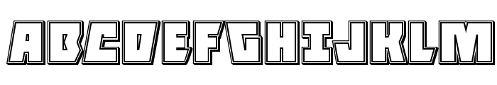 Halfshell Hero Engraved Regular Font UPPERCASE