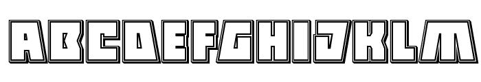 Halfshell Hero Engraved Regular Font LOWERCASE