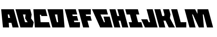 Halfshell Hero Leftalic Font UPPERCASE