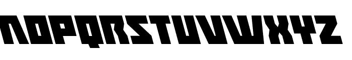 Halfshell Hero Leftalic Font LOWERCASE
