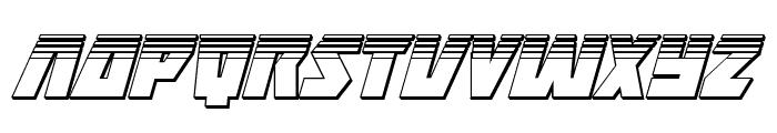 Halfshell Hero Platinum Italic Font UPPERCASE