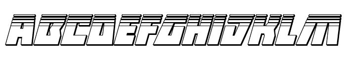 Halfshell Hero Platinum Italic Font LOWERCASE
