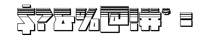 Halfshell Hero Platinum Regular Font OTHER CHARS