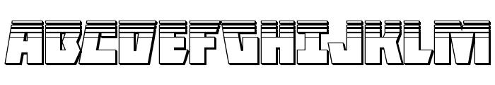 Halfshell Hero Platinum Regular Font UPPERCASE