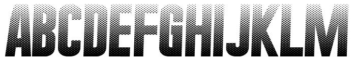 HalftoneNium Font UPPERCASE
