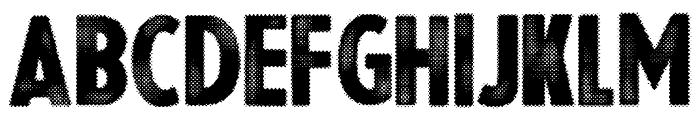 Halftoned Backup Font UPPERCASE