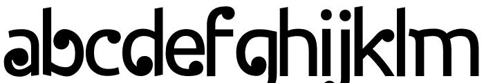 Halida Sans Normal Font LOWERCASE
