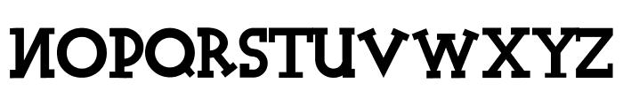 Halidians Blockserif Normal Font LOWERCASE