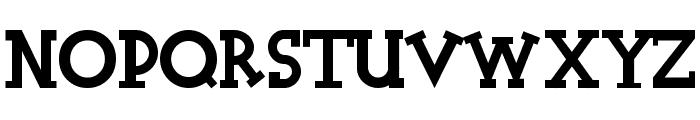 Halidians Blockserif Font UPPERCASE