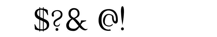 Halion Font OTHER CHARS