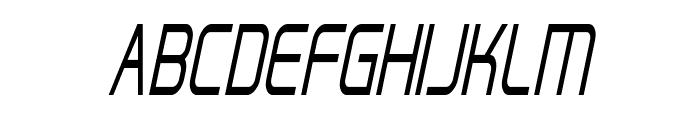 Hall Fetica Narrow Italic Font UPPERCASE