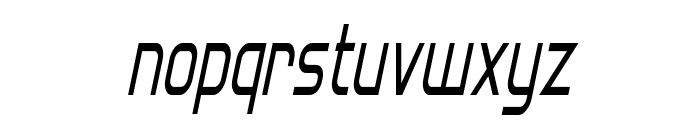 Hall Fetica Narrow Italic Font LOWERCASE
