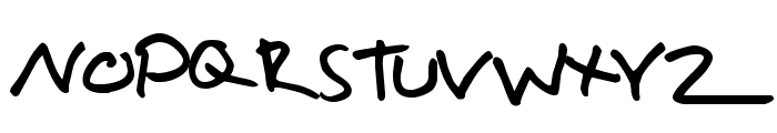 Hallisey Font UPPERCASE