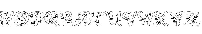 Halloween Bats Font UPPERCASE