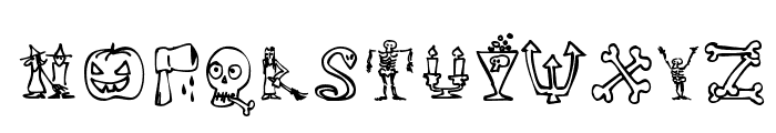 Halloween Match Font UPPERCASE