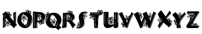 Halloween Spider Font UPPERCASE
