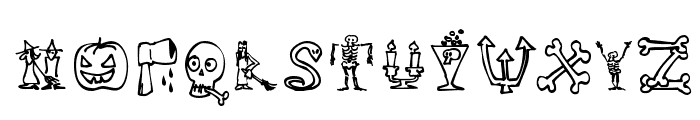 Halloween Unregistered Font UPPERCASE