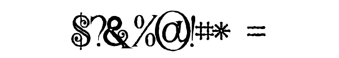 Hallowen Inline Font OTHER CHARS
