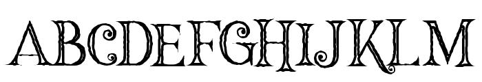 Hallowen Inline Font UPPERCASE