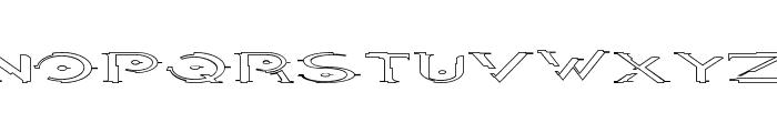 Halo OutlineRegular Font UPPERCASE