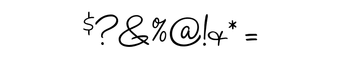 HaloHandletter Font OTHER CHARS