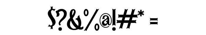 Hamburg Regular Font OTHER CHARS