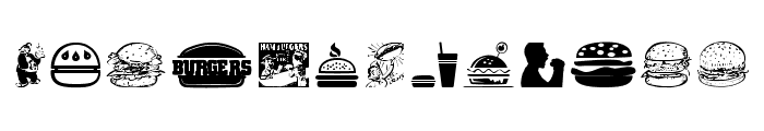 Hamburger Font UPPERCASE