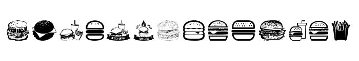 Hamburger Font LOWERCASE
