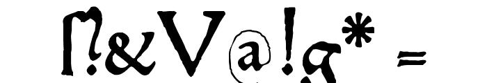 HamletOrNot Font OTHER CHARS