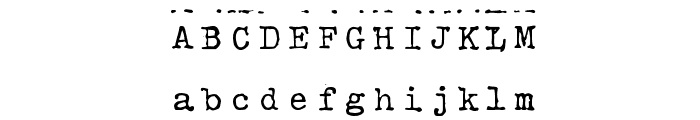 HammerKeys Font UPPERCASE