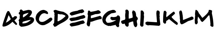 Hammer Font LOWERCASE
