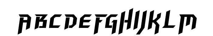 Hammerhead Italic Font UPPERCASE