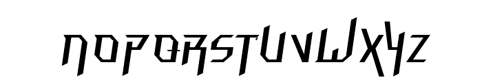 Hammerhead  Thin Italic Font UPPERCASE