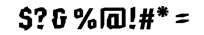 HammerheadBlack Font OTHER CHARS