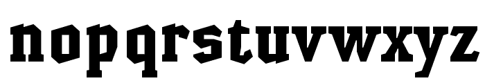 HammerheadBlack Font LOWERCASE