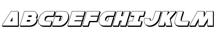 Han Solo 3D Italic Font UPPERCASE