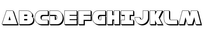 Han Solo 3D Font UPPERCASE