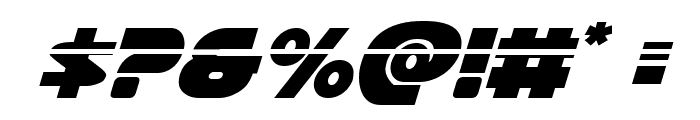 Han Solo Laser Italic Font OTHER CHARS