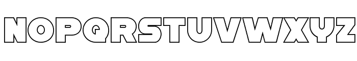 Han Solo Outline Font LOWERCASE