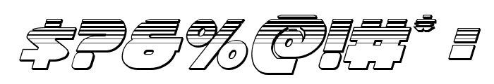 Han Solo Platinum Italic Font OTHER CHARS