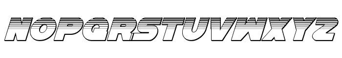 Han Solo Platinum Italic Font UPPERCASE